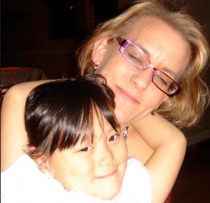 Julie Kenner and her daughter Isabella