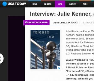 USA Today Interviews J. Kenner