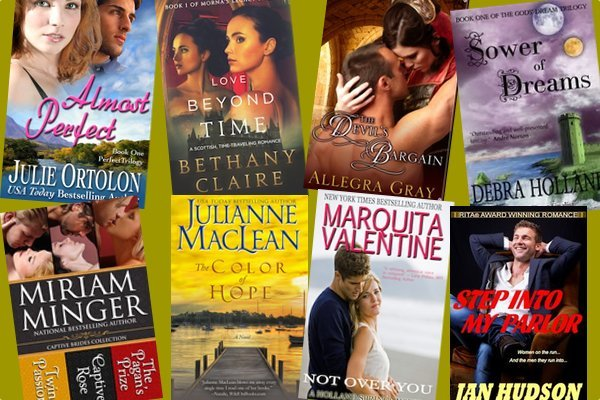 Hump Day books from Julie Ortolon, Bethany Claire, Allegra Gray, Debra Holland, Julianne MacLean, Miriam Minger, Marquita Valentine, and Jan Hudson!