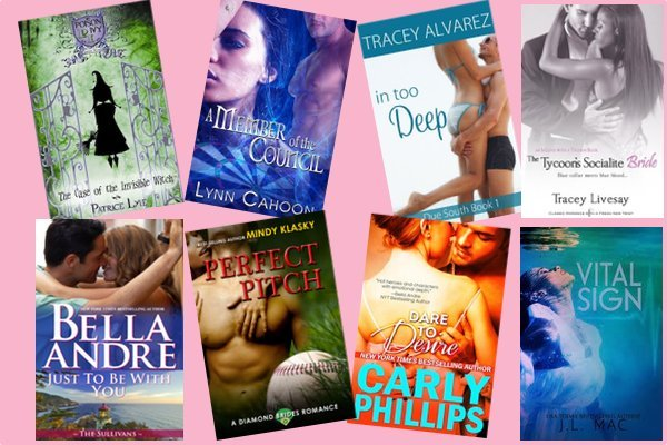 Hump Day books from Patrice Lyle, Lynn Cahoon, Tracey Alvarez, Tracey Livesay, Bella Andre, Mindy Klasky, Carly Phillips, and J. L. Mac!