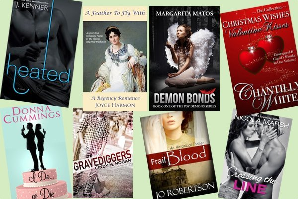 Hump Day books from J Kenner, Joyce Harmon, Margarita Matos, Chantilly White, Donna Cumming, Cindy M. Hogan, Jo Robertson, and Nicola Marsh!