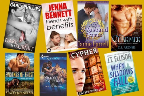 Hump Day books from Carly Phillips, Jenna Bennett, Jamie Farrell, C.J. Archer, Stacey Joy Netzel, Linda Thomas-Sundstrom, Cathy Perkins, and JT Ellison!