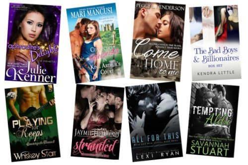 Hump Day books from Julie Kenner, Marianne Mancusi, Peggy L Henderson, Kendra Little, Whiskey Starr, Jaymie Holland, Lexi Ryan, and Savannah Stuart!