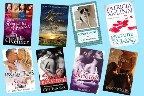 Hump Day books from Julie Kenner, Debra Holland, April Kihlstrom, Patricia McLinn, Lissa Matthews, Cynthia Sax, Tia Louise, and Laney Rodgers!