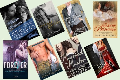 Hump Day books from Julie Leto, L. G. Castillo, Meredith Bond, Mary Hart Perry, Mary A. Wasowski, Angela Quarles, Melanie Marchande, and Erica Monroe!