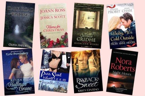 Hump Day books from Olivia Hardin, Jessica Scott, Suzan Tisdale, Jennifer Probst, Karla Brandenburg, Jacintha Topaz , Kristy, Centeno, and Nora Roberts!