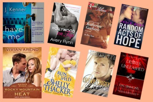 Hump Day books from J. Kenner, Avery Flynn, Katherine Garbera, Julia Kent, Vivian Arend, Shelly Thacker, Marian Tee, and D. N. Simmons!