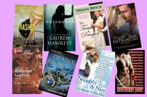 Hump Day books from Katherine Garbera, Susannah Sandlin, Jean Oram, Jacinda Wilder, Lauren Hawkeye, Megan Bryce, Maddie Jones, and Naughty Literati!