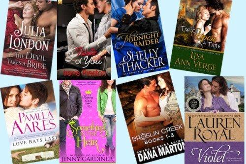 Hump Day books from Julia London, Irene Preston, Shelly Thacker, Lisa Ann Verge, Pamela Aares, Jenny Gardiner, Dana Marton, and  Lauren Royal!