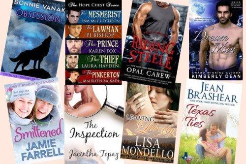 Hump Day books from Bonnie Vanak, Pam McCutcheon, Opal Carew, Kimberly Dean, Jamie Farrell, Jacintha Topaz, Lisa Mondello, and Jean Brashear!