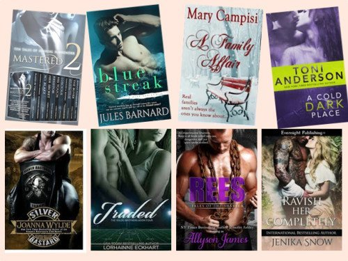 Hump Day books from Opal Carew, Jules Barnard, Mary Campisi, Toni Anderson, Joanna Wylde, Lorhainne Eckhart, Allyson James, and Jenika Snow!