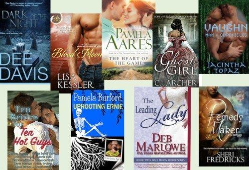 Hump Day books from Dee Davis, Lisa Kessler, Pamela Aares, C.J. Archer, Jacintha Topaz, Donna Fasano, Pamela Burford, Deb Marlowe, and Sheri Fredricks!