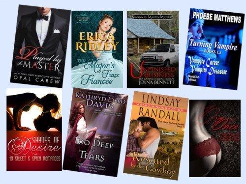 Hump Day books from Opal Carew, Erica Ridley, Jenna Bennett, Phoebe Matthews, Lena Hart, Kathryn Lynn Davis, Lindsay Randall, and Allyn Lesley!