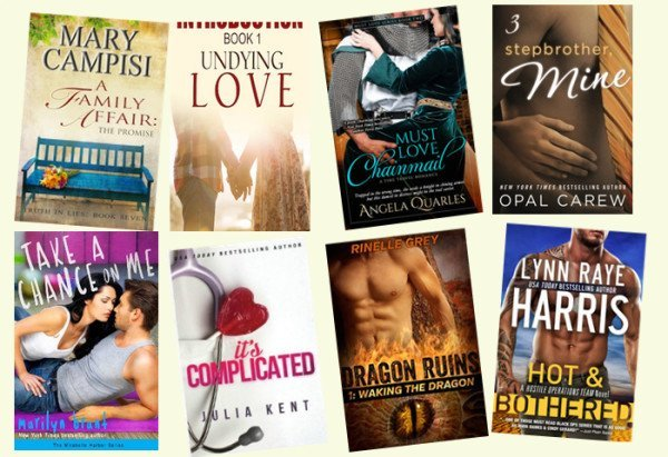 Hump Day books from Mary Campisi, Isabelle Connors, Angela Quarles, Opal Carew, Marilyn Brant, Julia Kent, Rinelle Gray, and Lynn Raye Harris!