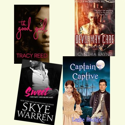 Hump Day books from Tracy Reed, Cynthia Rayne, Skye Warren, and Leslie Hachtel!