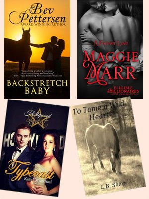 Hump Day books from Bev Peterson, Maggie Marr, Kim Carmichael, and L. B. Shire!