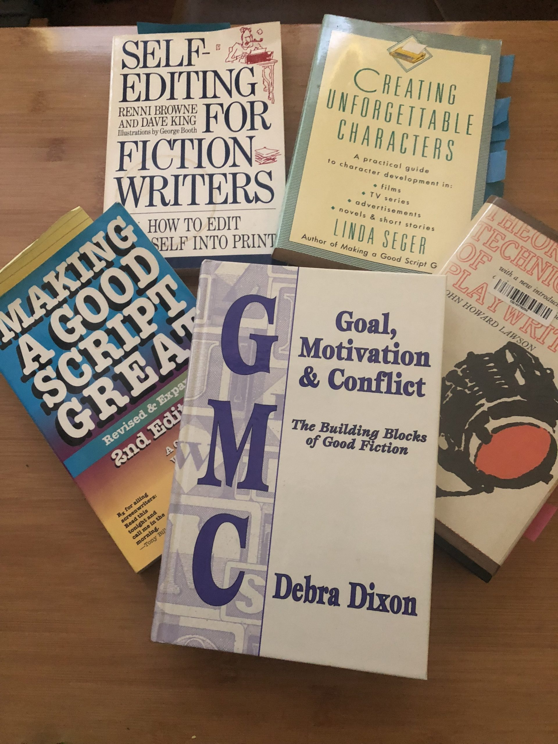 Selection of writing craft books