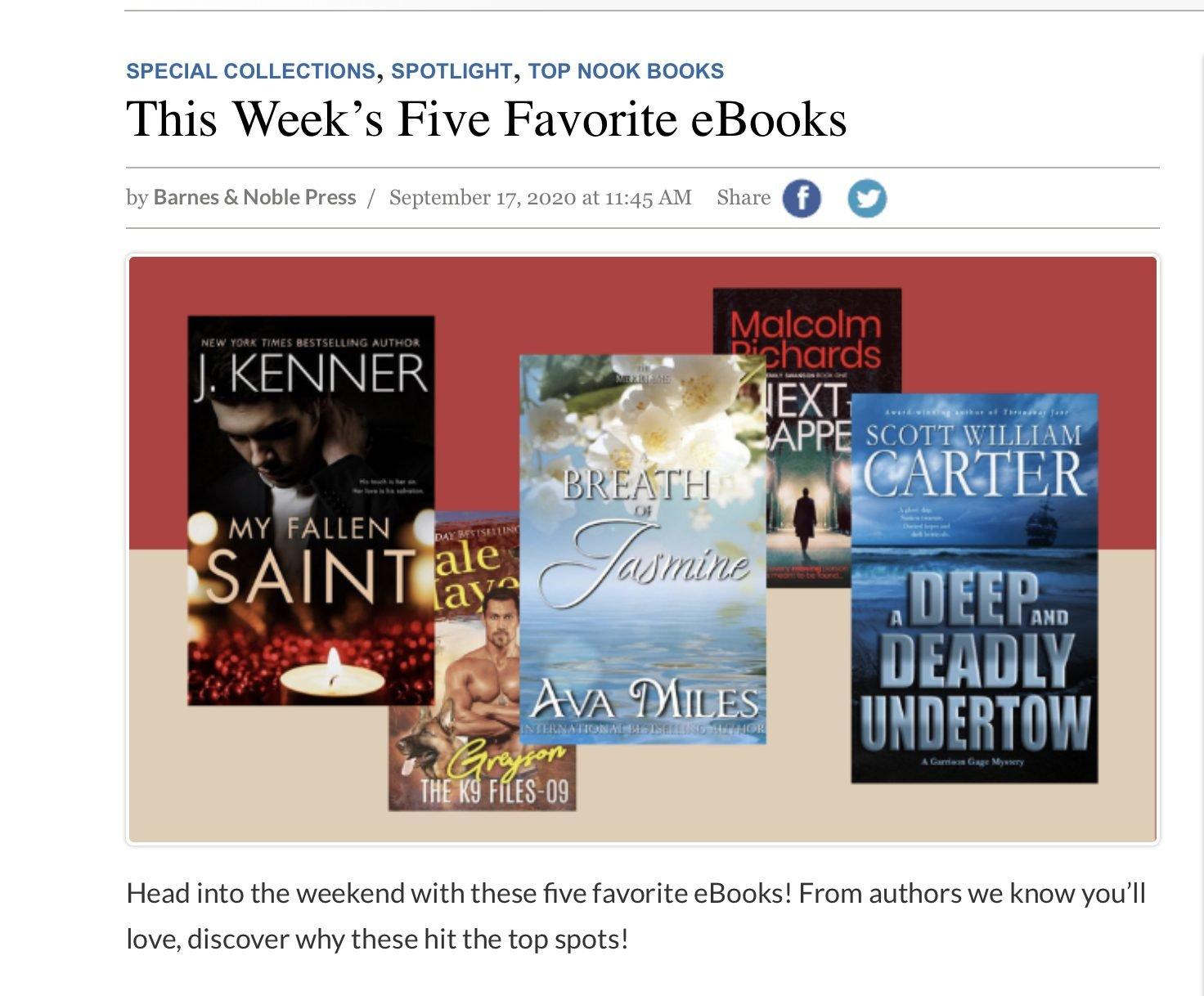 Barnes & Noble favorites of the week