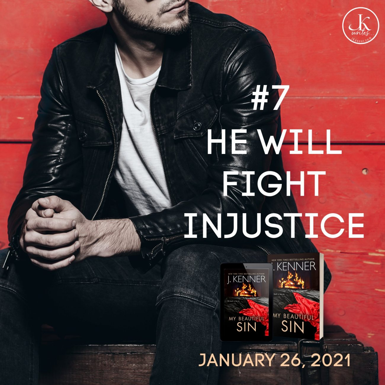 Devlin Saint will fight injustice image. My Beautiful Sin by J. kenner