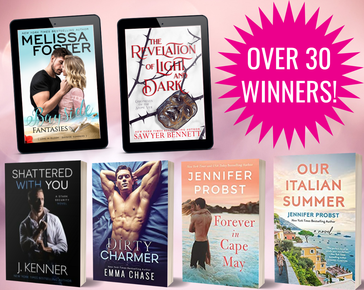 images of the winning books in the LWW giveaway!